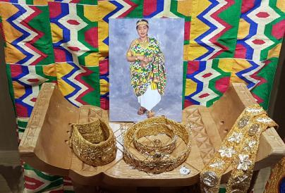 A selection of Ghanaian jewellery