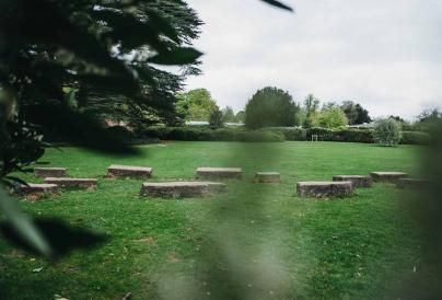 Ian Hamilton Finlay Garden - Stones spread out