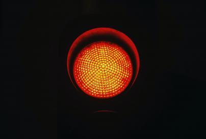 Image of a red traffic light