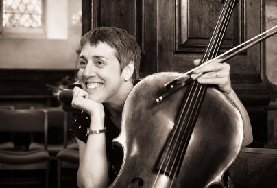 Sarah Butcher sat with cello