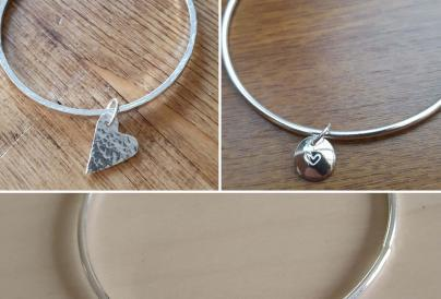 Create A Silver Bangle with a Charm