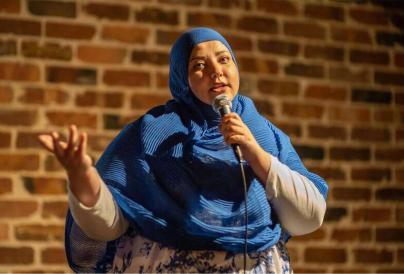 A picture of comedian Fatiha