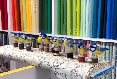Image of Needle Felt Blue Birds