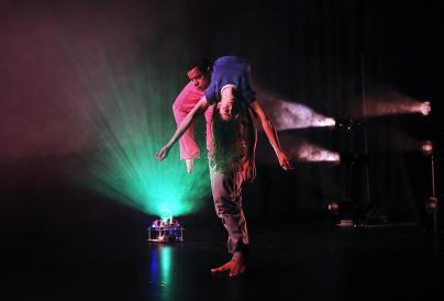 Image of two dancers performing,